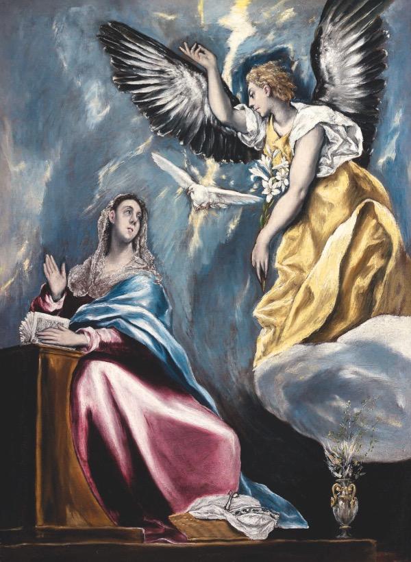 L'Annonciation (1595-1600) El Greco Szépmûvészeti Múzeum, Budapest, DR