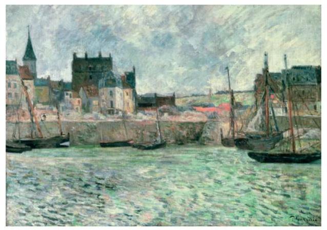 Paul Gauguin (1848-1903) Le Port de Dieppe, vers 1885, DR