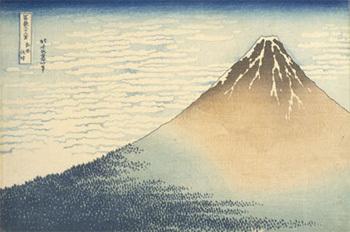 Trente-six vues du Mont Fuji : Hokusai AA 380 Copyright musée Guimet / Thierry Ollivier