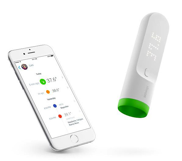 Thermo de Withings : le premier thermomètre temporal connecté certifié CE