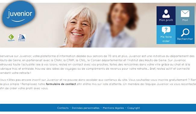 Juvenior : plafeforme web pour favoriser le bien-vieillir dans les Hauts-de-Seine