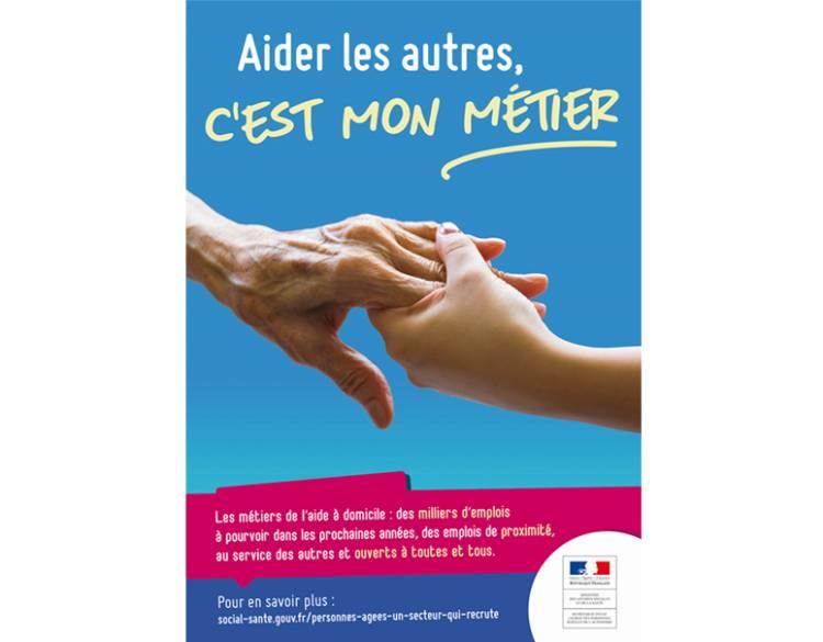 Aider les autres, c'est mon métier : campagne pour promouvoir les métiers de l'aide à domicile