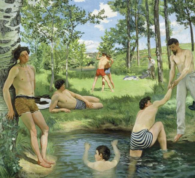 Frédéric Bazille ; Scène d'été 1869 ; Huile sur toile. Cambridge, Massachusetts, Fogg Art Museum © President and Fellows of Harvard College