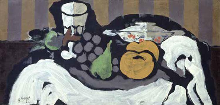 Georges Braque (1882-1963), Fruits sur une nappe, 1924, huile sur toile, 31,5 x 65,5 cm, Fondation Collection E.G. Bührle, Zurich. © ADAGP, Paris 2017 © Fondation Collection E. G. Bührle, Zurich