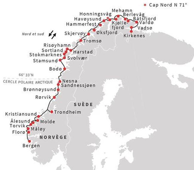 Croisière en Norvège : entre aurores boréales et journées sans nuit