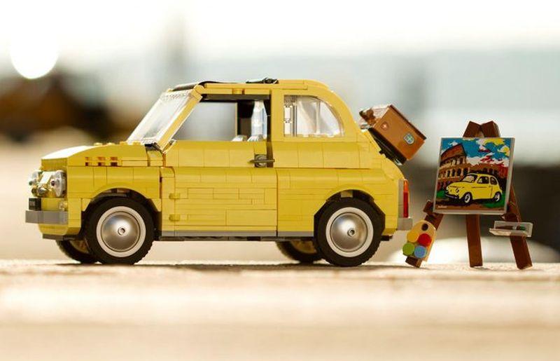 Fiat 500 en Lego