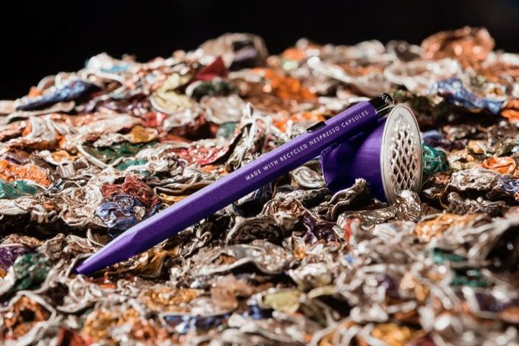 Des stylos Caran d'Ache en capsules Nespresso recyclées