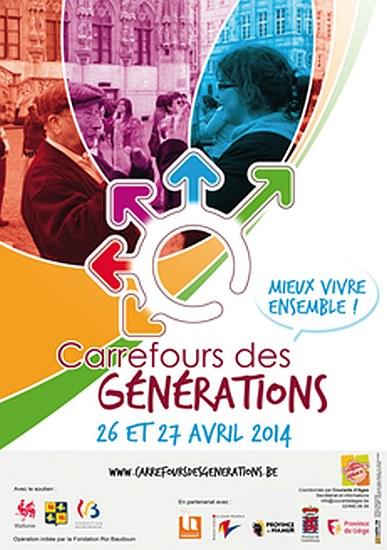 Belgique : Carrefours de Générations les 26 et 27 avril 2014