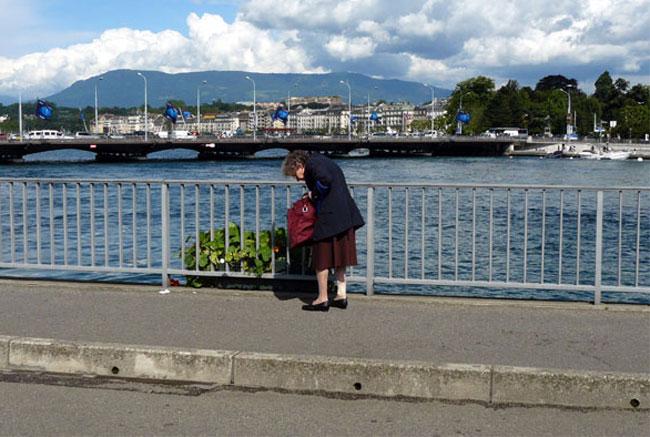 Personne âgée à Genève