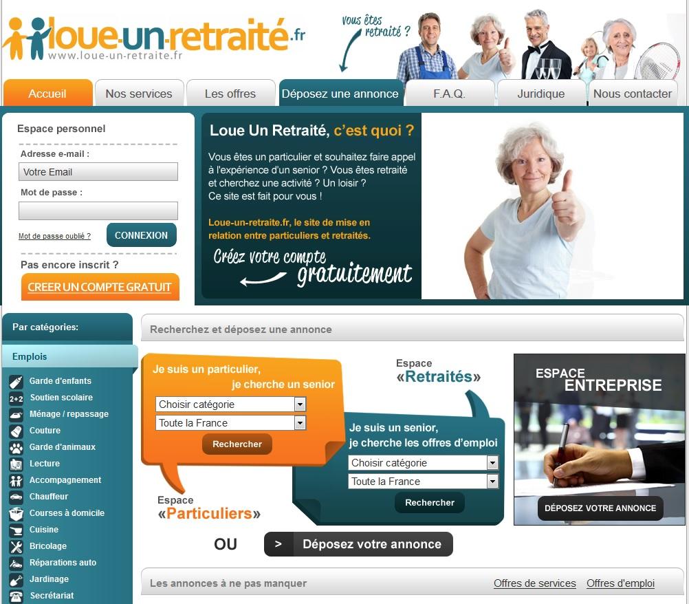 Loue-un-retraite.fr : petites annonces pour permettre aux retraités d'arrondir leur fin de mois