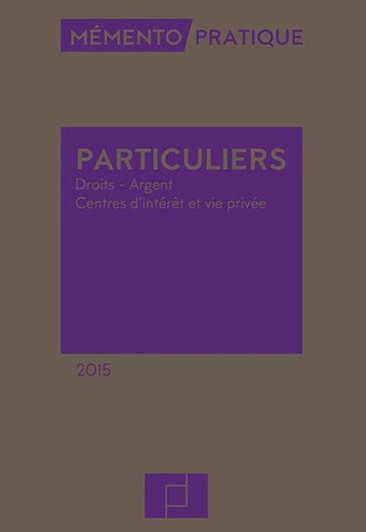 Mémento Particuliers 2015