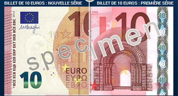 10 euros : un nouveau billet en circulation à partir du 23 septembre 2014