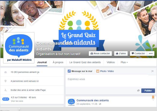 Facebook : lancement de la Communauté des Aidants