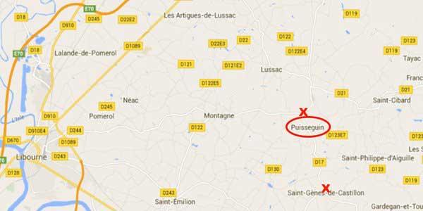 Lieu de l'accident publié sur le compte Twitter de la Gendarmerie Nationale