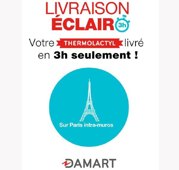 Damart : le Thermolactyl livré en 3h chrono aux Parisiens