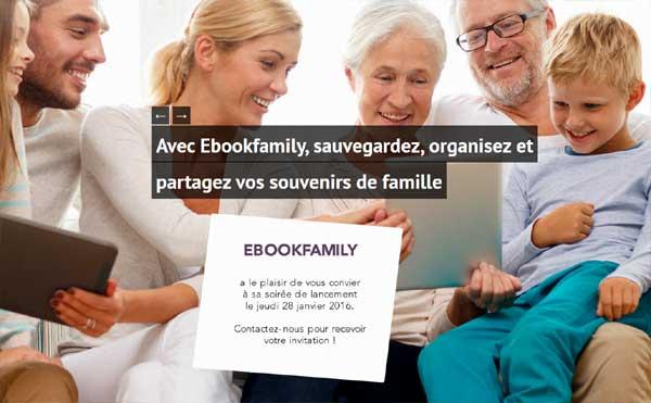 Ebook-family.fr ou comment pérénniser les souvenirs de famille