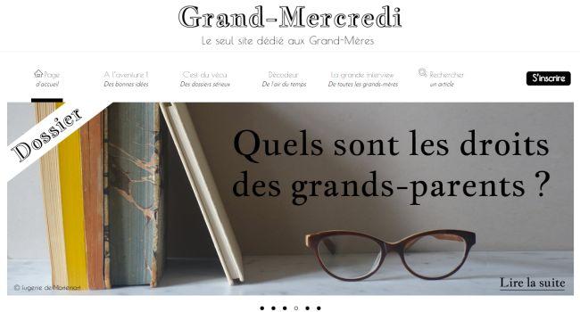 Grand-mercredi.com : un site entièrement dédié aux grands-mères