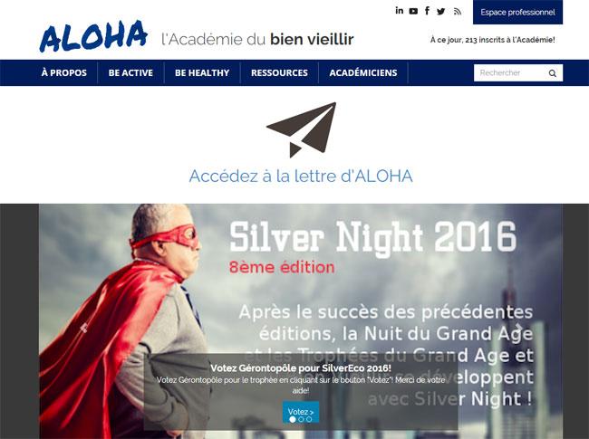 Académie du bien vieillir : lancement de la plateforme web Aloha