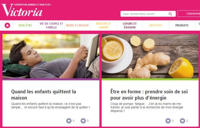 """Victoria : plateforme """"marketing"""" pour les femmes de plus de 50 ans"""