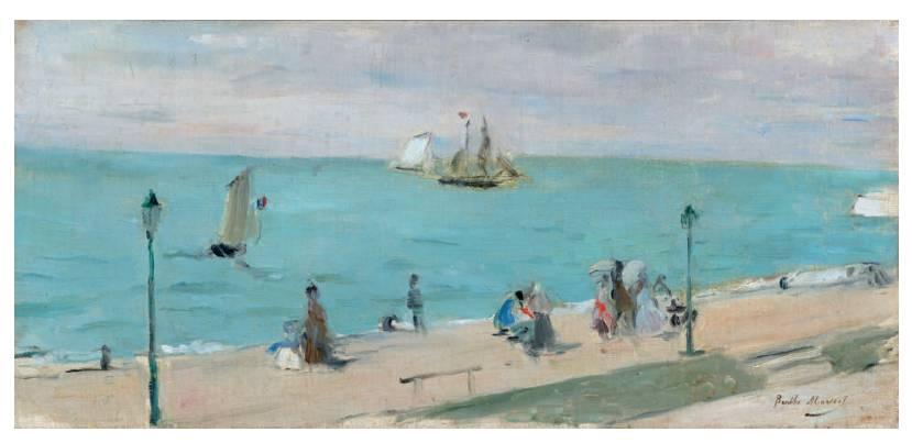 Berthe Morisot (1841-1895) La Plage des Petites-Dalles, vers 1873, DR
