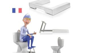 """Un marche pied pour WC pour adopter une meilleure posture sur le """"trône"""""""
