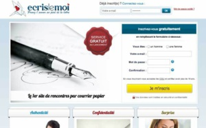Ecrislemoi.fr : un site de rencontre épistolaire pour prendre l'amour au pied de la lettre !