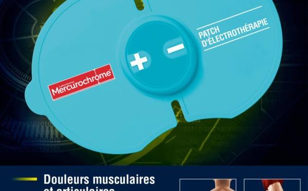 Mercurochrome : un patch d'électrothérapie antidouleurs